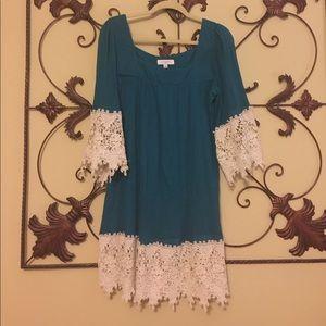 Umgee teal blue XL dress